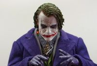 1/6 Scale Batman Joker Headplay Heath Ledger Head Sculpt with Heavy Makeup Male Headplay for 12 Inches DIY Action Figures