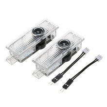 4 pçs porta do carro luz de boas-vindas para mini cooper um s jcw r52 r55 r56 r58 r59 r60 f55 f56 f60 led laser logotipo projetor lâmpadas gadgets