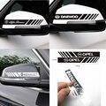Стайлинг автомобиля 2 шт. переводная полоса для зеркала заднего вида декоративная наклейка для Fiat Panda Bravo Punto Linea Croma 500 595