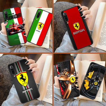 Ferrare Luxury Sport Car F1 Racing Phone Case For Xiaomi Mi Note 10 A3 9 MAX 3 A2 8 9 Lite Pro Ultra black Shell Pretty Cell 3D image