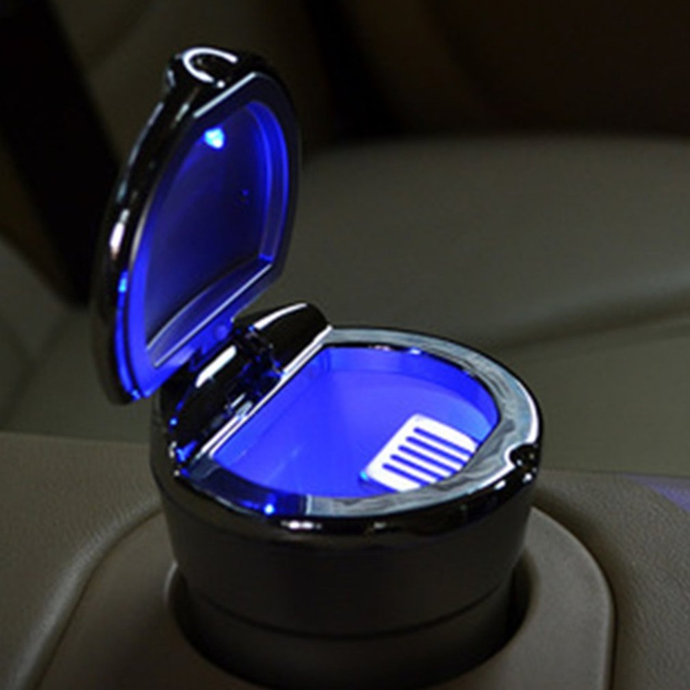 Car LED Light Ashtray Cup Holder with Cigarette Lighter Creative Detachable