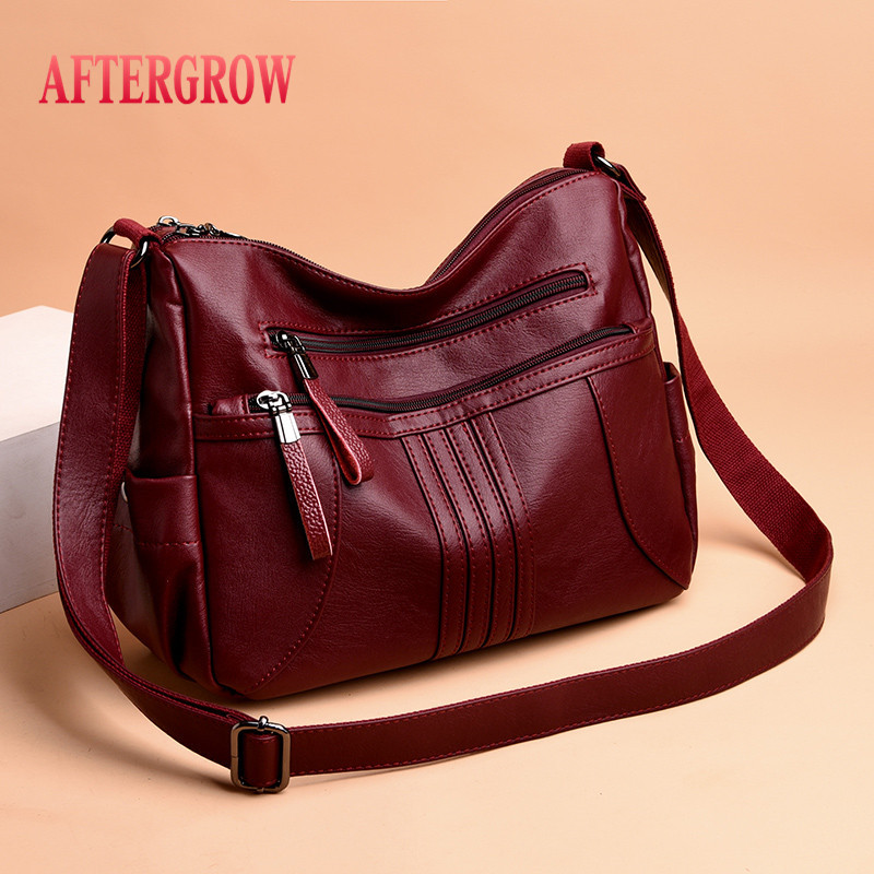 2019 Women Shoulder Bag Luxury Soft Leather Large Bag Female Messenger Bags Big For Ladies Handbag Designer Brand Bolsa Feminina