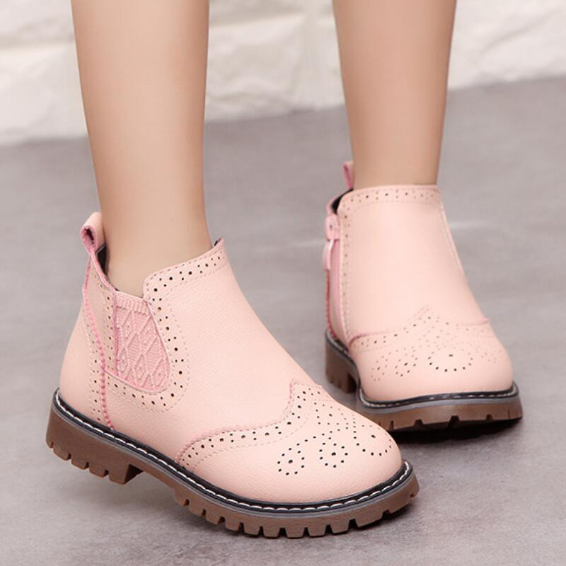 2019 Girls Martin Boots Shoes For Girls Children Warm Boots Fashion Soft Bottom Boys Girls Boots Non-slip Kids Sneakers
