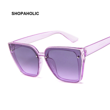 Fashion Women Luxury Brand Square Sunglasses Ladies Vintage Oversized Sun Glasse