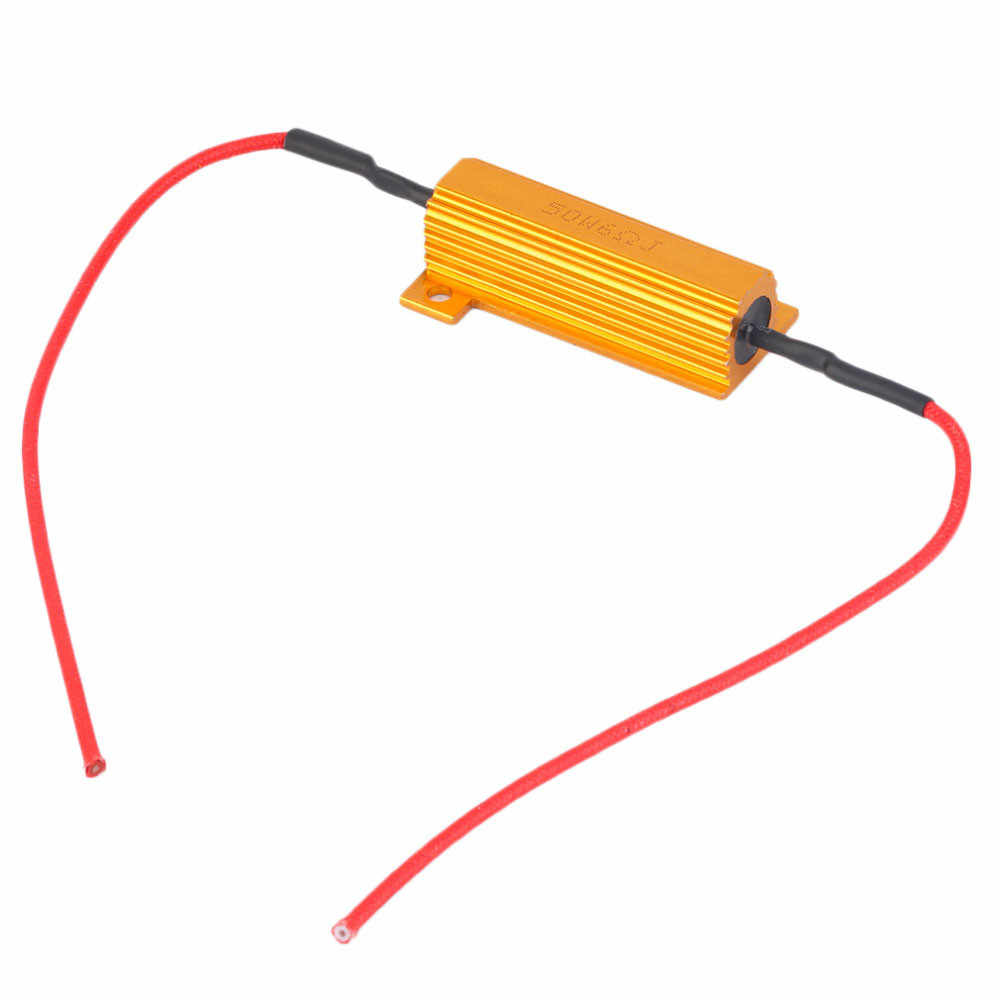 4pcs 50W 6Ohm רכב LED DRL ערפל הפעל Singal נגד עומס לתקן LED הנורה Canceller מפענח המיכלים עבור LED אור הנורה