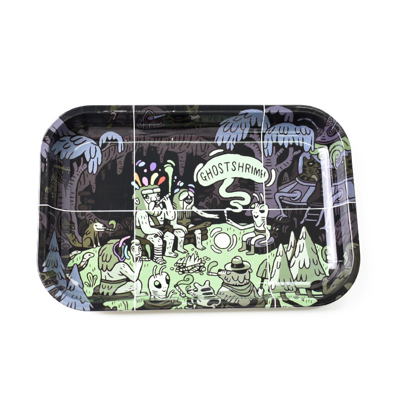 Ghost Big 28cm X 18cm Weed Tray Rolling Tray Weed Accessories