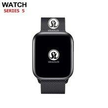 بلوتوث ساعة ذكية 4 1:1 SmartWatch 42 مللي متر الحال بالنسبة أبل ساعة آيفون iOS أندرويد معدل ضربات القلب ECG عداد الخطى سلسلة 4