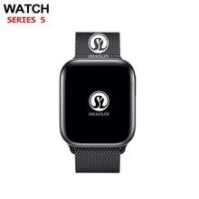 "Bluetooth חכם שעון 4 1:1 SmartWatch 42mm Case עבור אפל שעון iphone iOS אנדרואיד קצב לב אק""ג פדומטר סדרה 4"