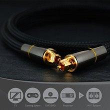 0.5m,1m,1.5m,2m,3m,5m HIFI 5.1 Digital Sound SPDIF Optical Cable Toslink audio Cable Optical Fiber Audio Cable