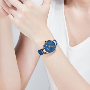 Image 5 - MINI FOCUS النساء الساعات العلامة التجارية الفاخرة موضة عادية السيدات ساعة معصم مقاوم للماء الأزرق الفولاذ المقاوم للصدأ Reloj Mujer Montre فام