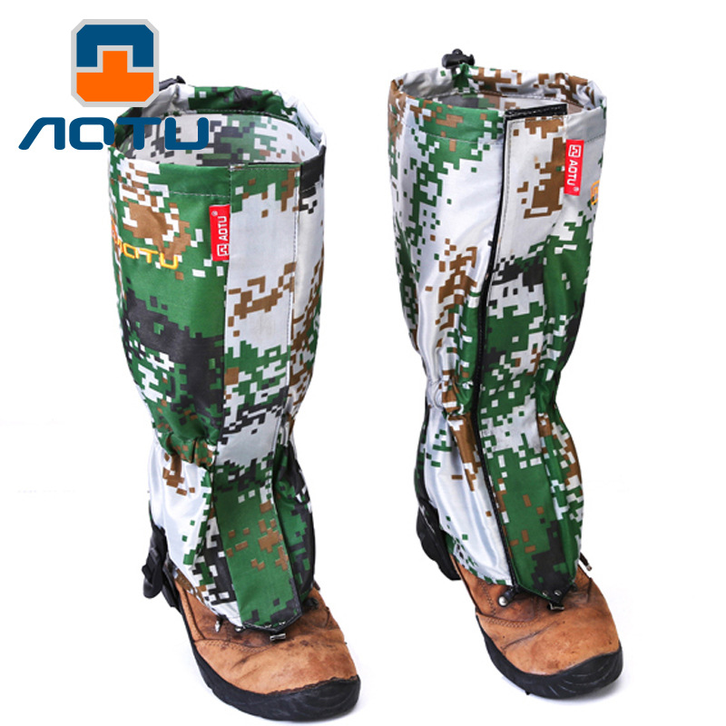 Outdoor Camouflage Snow Cover Mountaineering Ski Foot Cover Waterproof Anti Mosquito Shoe Cover