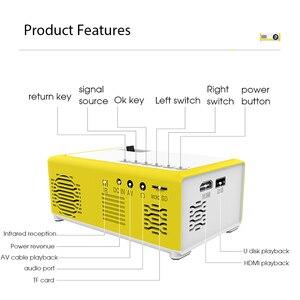 Image 3 - Kebidu M1 Portable Mini Projector 1800 Lumens HDMI 1080P Mini Home Projector 3.5mm Audio For AV USB SD TF Card USB Pocket Beamer