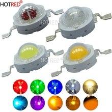 10 шт. 5 Вт высокомощный светодиодный светоизлучающие диоды светодиодный s чип smd-фильтр белый зеленый красный синий желтая лампочка 440nm 660nm 380-840nm Epistar