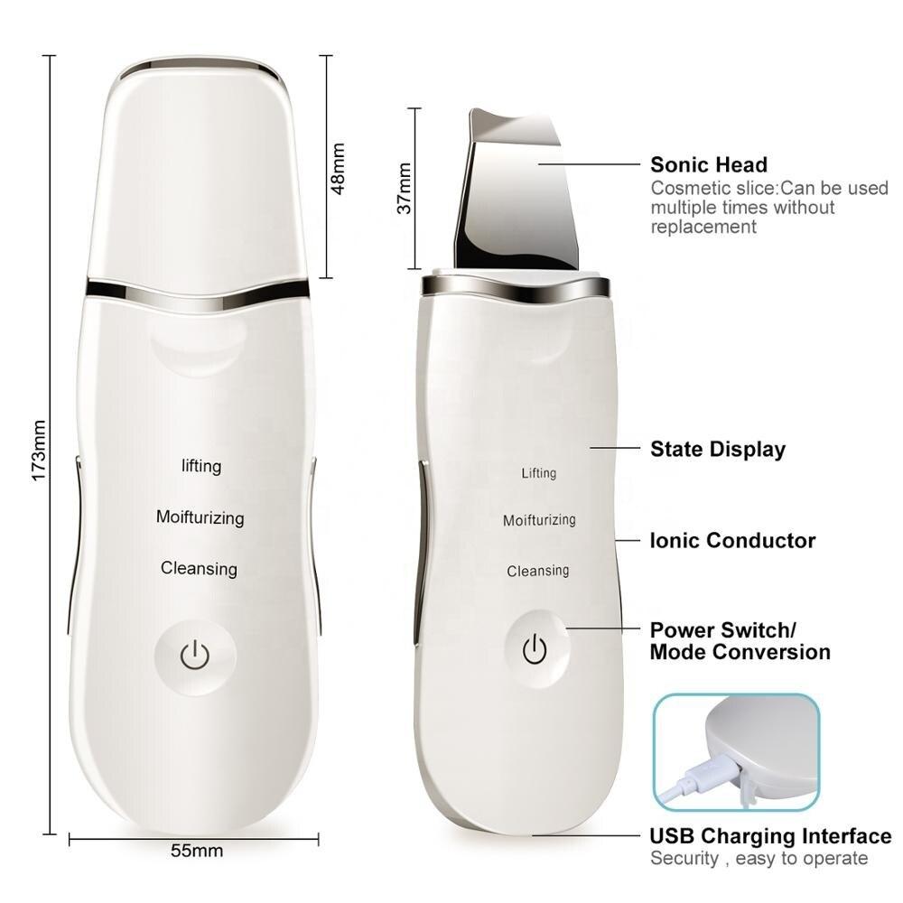 Yabefa 24K Gold Ultrasonic Facial Skin Scrubber