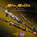 Kingdom MicroMonster Trout Rod 1.55m 3 Section Casting Spinning FUJI Guide UL Light Travel Pole Stream Ejection Fishing Lure Rod