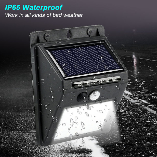 Rechargeable Solar Light 20 30 48 60 96 LED Waterproof PIR Motion Sensor Security Solar Lamp Outdoor Emergency Wall Light 3