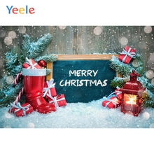 Yeele Christmas Party Photocall Bokeh Snow Lantern Photography Backdrops Personalized Photographic Backgrounds For Photo Studio