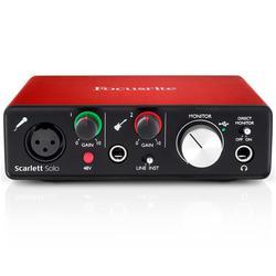GloryStar Sound Card 2nd Generation External Recording Arrangment Focusrite Scarlett Solo