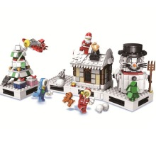 2019 Winter Christmas Gift Santa Claus Snowman Model Building Kits Blocks Bricks Kids Gifts B751
