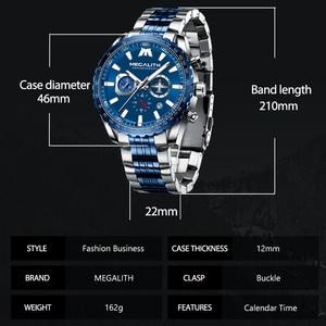 Image 4 - Relógio Do Esporte Dos Homens Relogio masculino 2020 MEGALITH Aeronaves Ponteiro Calendário Data Mens Relógios De Luxo À Prova D Água Relógio de Quartzo Gents