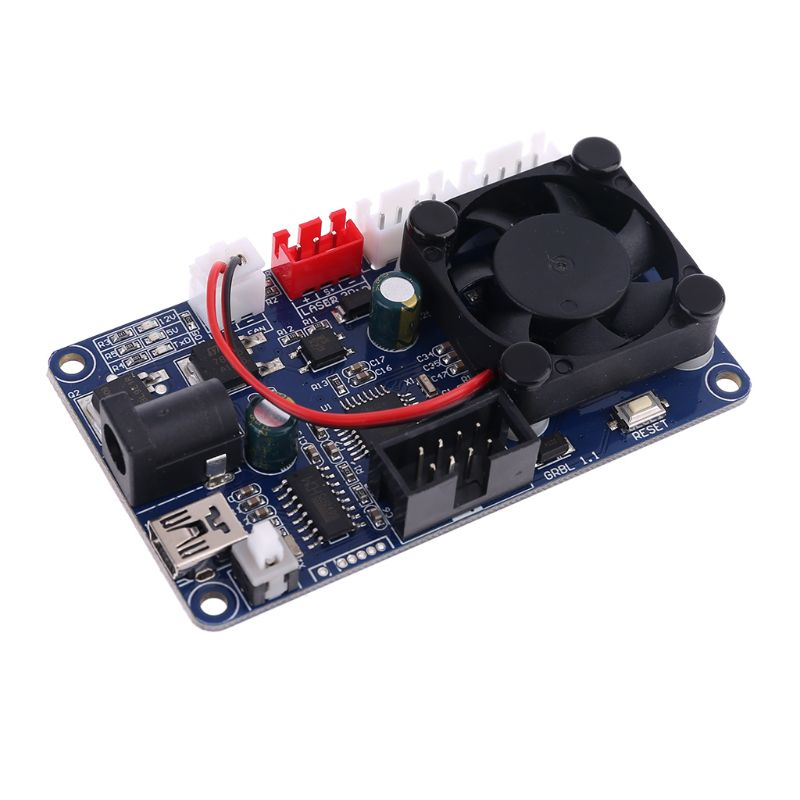 GRBL 2 Axis Control Board Laser Engraving Machine Offline Control Board With Fan Qyh