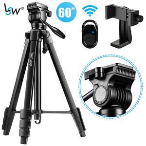 Штатив для камеры 60 дюймов/152 см для DSLR/SLR, Профессиональный легкий штатив с самой гладкой жидкостной головкой для телефона с держателем теле...