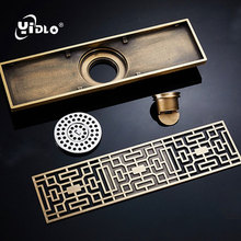 Bathroom Drain strainer Art Carved Cover Waste Drain Stopper Euro Style  Antique Brass Drains Shower 8*30 cm Floor Drain Kitchen frap high quality floor drain 20 8 2 cm euro antique brass floor drains cover shower waste drainer bath accessories y38072