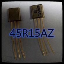 (5 pces) 45r15az 45mhz cristal filtro UM-1/45r15az/3db + 7.5khz novo e original
