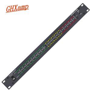 Image 2 - Профессиональный домашний усилитель GHXAMP для сцены, динамик с двойным 40 спектром, звуковой светодиодный стерео индикатор уровня 57дб 0дб