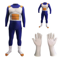 Anime Dragon Ball Vegeta Jumpsuits Super Saiyan Battle Suits Halloween Cosplay Costume for Adults Kids Carnival Party Outfit