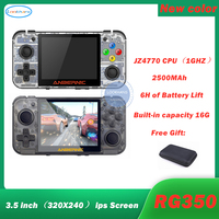 New Retro Game RG350 Video Game Handheld game console MINI 64 Bit 3.5 inch IPS Screen 16G Game Player RG 350 PS1 RG350M