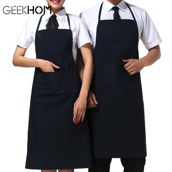GEEKHOM Kitchen Aprons For Women Men Home Cleaning Black Sleeveless Cooking Apron Chef Waiter BBQ Cook Clean APron women men chef waiter waitress uniform cook kitchen accessories apron with pockets restaurant craft baking bbq work apron
