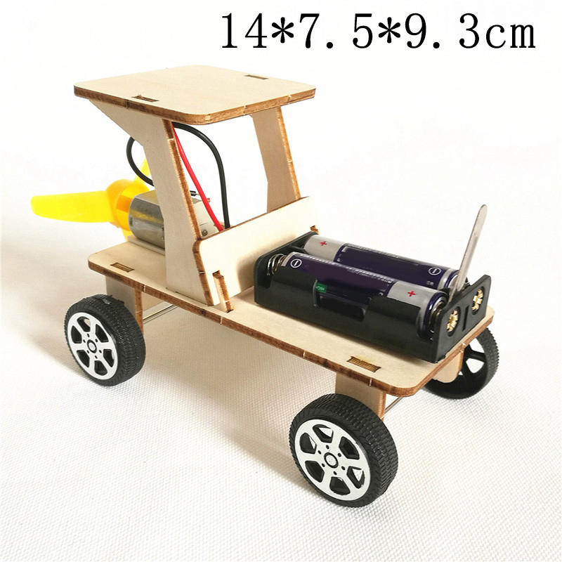 Arts And Crafts Kids Toys For Children Kids Diy Material Wood Wooden Model Toy Modeling Kit Diecast Car Battery Paper Die Cast