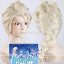 Принцесса Снежная королева Эльза Плетеный светильник для косплея блонд парик