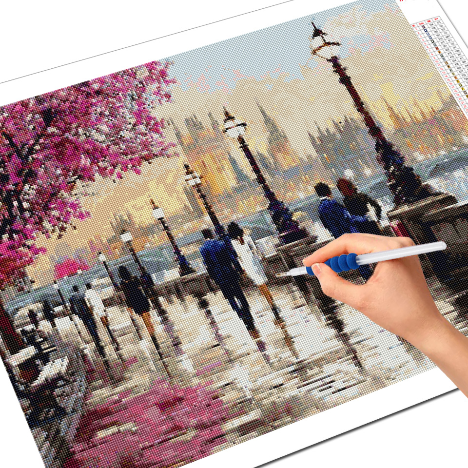 Evershine Diamond Embroidery Cross Stitch Street Diamond Painting Landscape 5D DIY Full Drill Mosaic Rhinestone Pictures Crafts-2