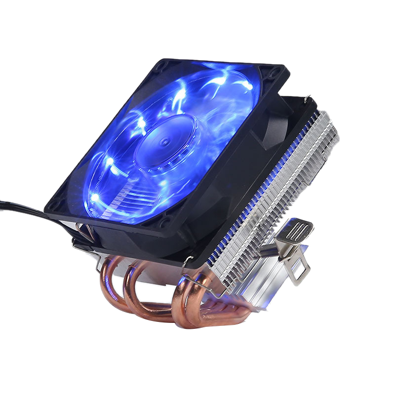 4 Heatpipes CPU Cooler 3 Pin PWM LED 120Mm Cooling Fan Radiator Heatsink for Intel LGA 1150/1151/1155/1156 for AMD AM3+ AM3 AM2 image