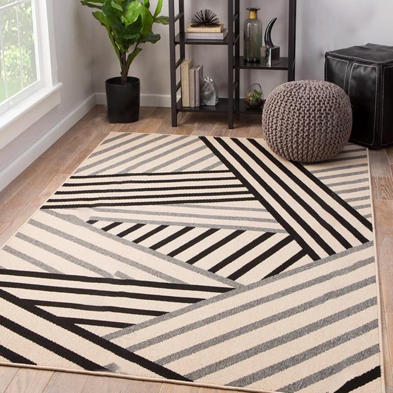 Nordique moderne géométrique tapis salon table basse chambre tapis boutique maison tapis rectangle