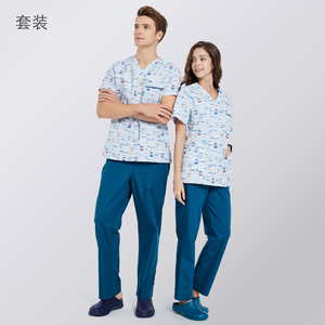 Image 3 - ANNO Krankenhaus scrubs Set Pflege Einheitliche für Männlich weibliche Liefert Dental Klinik Krankenschwester Scrubs Frauen SPA Uniformen