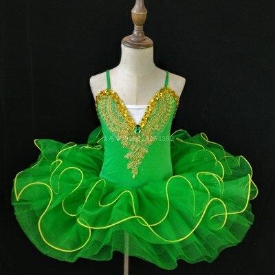 Г. Детское балетное платье Пушистый костюм платье принцессы платье для танцев с изображением маленького лебедя платье для выступлений для девочек, Costumeflower, платья для девочек - Цвет: green