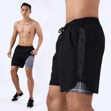 Fitness shorts men's shorts sports men's fitness shorts with pockets football beach training shorts