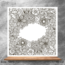 ZhuoAng Flowers and plants Clear Stamps/Silicone Transparent Seals for DIY scrapbooking photo album Stamps