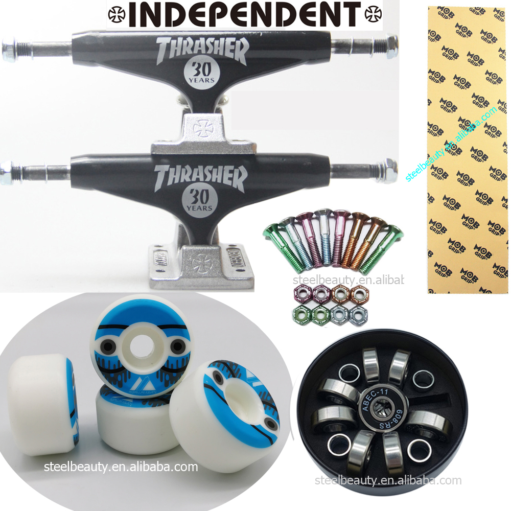 Independent Skateboard Trucks MOB Grip Tape 105A Skateboard Wheel Skate Bearings And Screws Dish Good Quality Professional Level