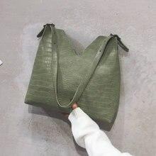 Casual Large Capcity Crocodile Pattern Shoulder Bags Women Fashion Handbags Luxury Pu Composite Bag Ladies Alligator