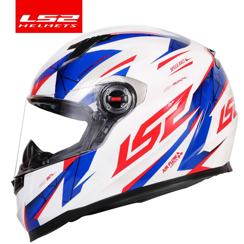 Original LS2 FF358 Motorcycle Helmet Full Face LS2 Alex Barros Racing Helmets Casque Casco Moto ECE Certification