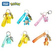 Llavero auténtico de Pokémon, figura de acción de Pikachu, Pokémon, ardilla, psicopato, mochila con colgantes, modelo de coche