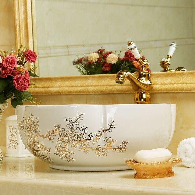 Lavabo en céramique européenne | Lavabo de salle de bains, lavabo dart