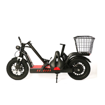 2020 New Smart 400W 2 wheel lithium battery adult lightweight mobility mini citycoco folding electric scooter ebike with seats image