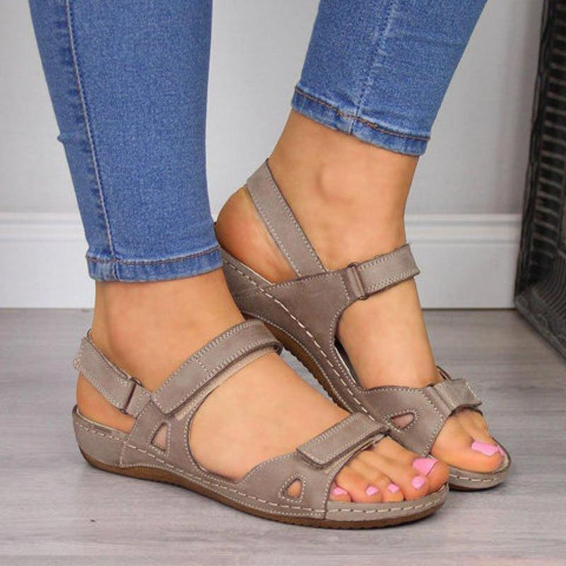 Ladies Womens Peep Toe Flat Woven Sandals Summer Beach Casual Ankle Buckle Shoes