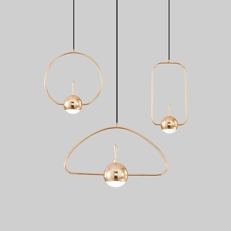 Moderne Nordic Wohnzimmer Kreative Kronleuchter Persönlichkeit Kunst Schmiedeeisen Kronleuchter Led Geometrische Form Linie Lichter