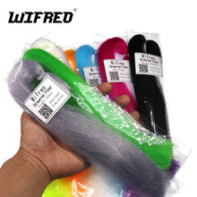 Wifreo 2Packs 30 CENTIMETRI Ondulato Crespi Minnow Fibra Streamer Fly Fiber Bucktail Jig Testa Tying Materiali per la Pesca A Mosca bass Fishing Lure(China)